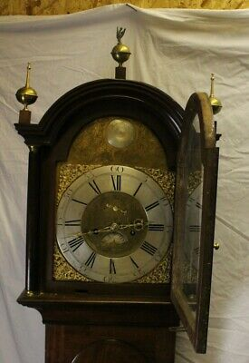 1788 Brass Face 8 Day Grandfather Clock by-Hector Simpson of London 3