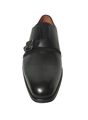 Mezlan Men/'s Monk Strap Black Leather Dress Shoes 8155