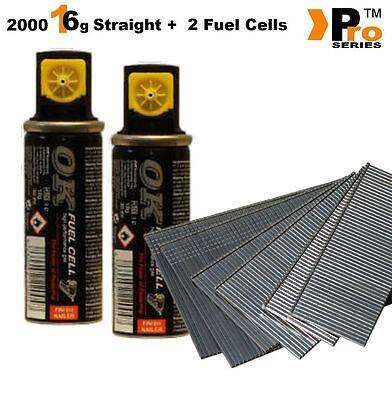 MIXED PACK -Paslode Hitachi Bostitch 2000 16G Finish Nails + 2xFuel Cells   007 2