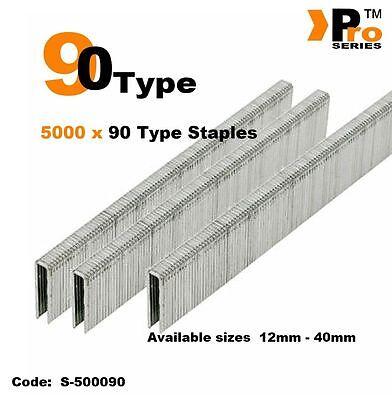 5000 x 90 Type Staples - Narrow crown     016 3