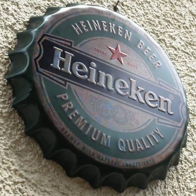 HEINEKEN Beer Amsterdam Geprägtes Blechschild MAKELLOS Bier Brauerei  KULT MARKE 7