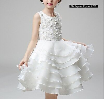 ... Vestito Bambina Abito Cerimonia Fiori Elegante Girl Party Princess Dress  CDR060 3 4c98563dfec