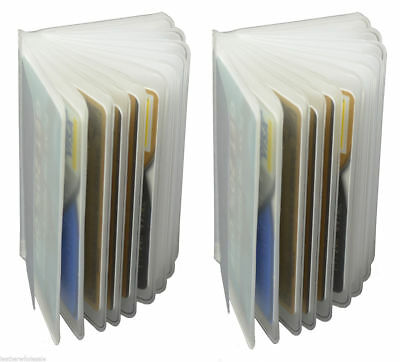 Set of 2 Plastic Wallet Insert Replacement Picture Card Holder Trifold 6 Page 4