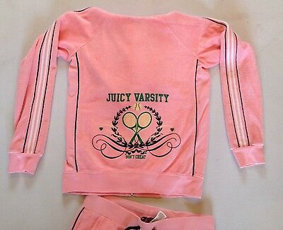 Girls Juicy Couture Towelling Varsity Crop Tracksuit Age 14 Rrp£175 Now£40.50 7