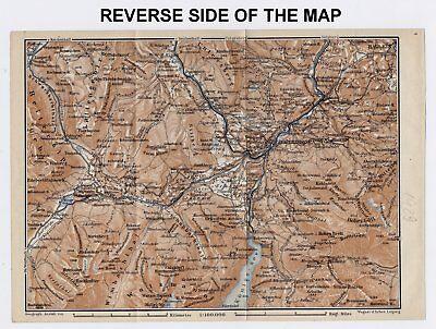 1929 Original Vintage Map Of Berchtesgaden And Vicinity / Bayern Bavaria Germany 3