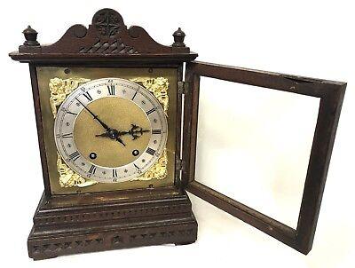 WINTERHALDER HOFFMEIER W & H Antique Oak Bracket Mantel Clock SERVICED 6