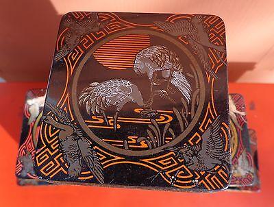 7 Teedosen aus Blech mit asiatischem Motiv 3