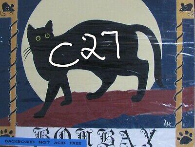 "C439        Original Acrylic Painting By Ljh    ""Vader""    Black Cat 11"