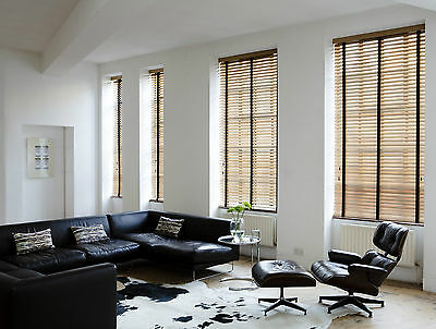 Wooden Venetian Blinds with Tapes - 25, 35 & 50mm Made To Measure Wood Blinds 6
