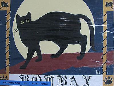 "C305   Original Acrylic Painting By Ljh  ""Bosco""  Cat Kitten 6"