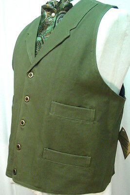 Double Breasted Black Frontier Classics Old West Victorian Westworld style vest