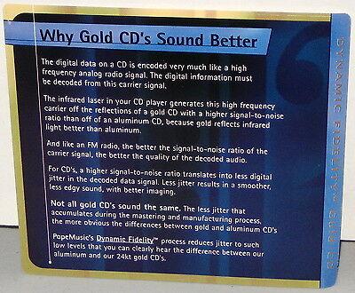 POPE MUSIC 24KT  GOLD PMG04 CD: Various Artists - Reel 3 Sampler - OOP 1997  USA