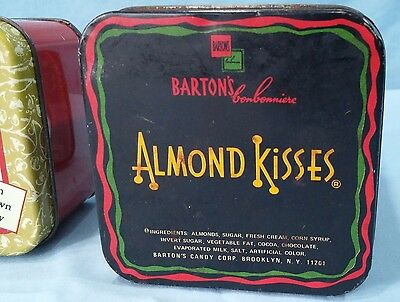 Vintage Advertising Tins Lithograph Epicure Fruit Cake And Barton's Almond Kiss 12
