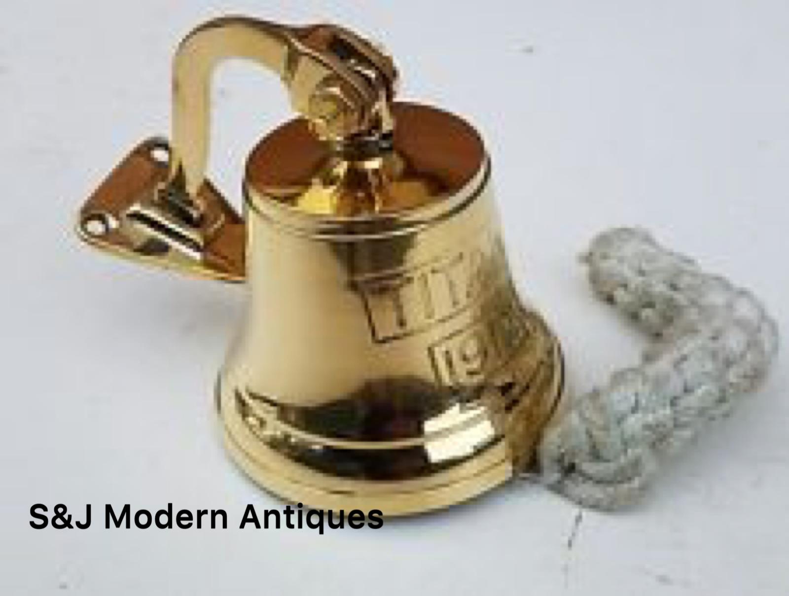 Antique Brass Wall Bell Titanic Ship's School Pub Last Orders Dinner Door 3 inch 12
