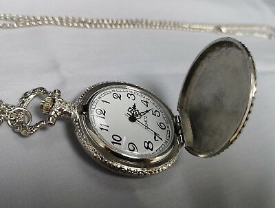 Masonic Silver & Gold Pocket Watch Compass Symbol Unknown Group Temple Lodge UK 5