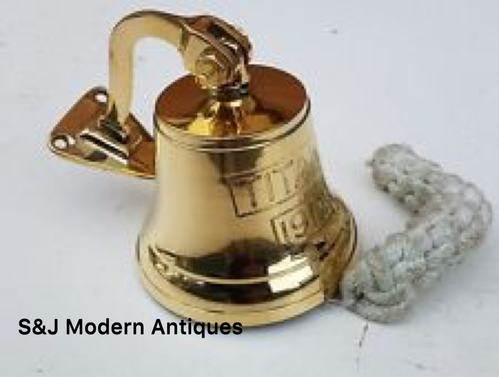 Antique Brass Wall Bell Titanic Ship's School Pub Last Orders Dinner Door 3 inch 3