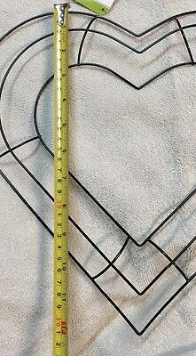"... 13"" Heart Shaped Metal Wreath Frame DIY Macrame Floral Crafts Wire Form Deco 2"