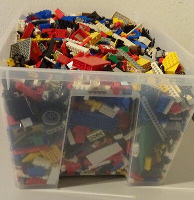 1 Kg  LEGO KILOWARE STEINE PLATTEN RÄDER SONDERSTEINE GEMISCHT GEBRAUCHT KILO 6