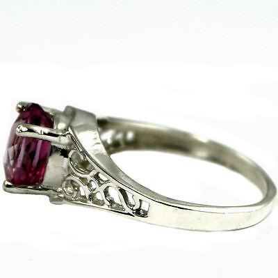 • SR305, Pure Pink Topaz, Sterling Silver Ladies Ring -Handmade