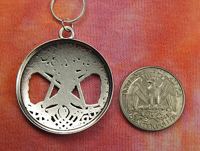 Pentagram on Celtic Knot Braid Tree of Life Necklace, Pagan Pentacle Pendant 4