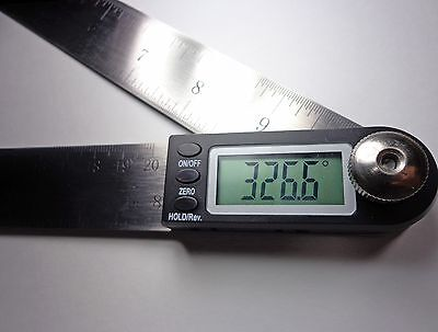 "Digital Electronic Miter Angle Finder Protractor  Rule 11"" 2"