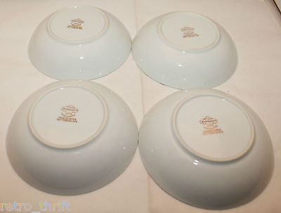 Vintage Fukagawa Arita Set of 4 Handpainted Gold Trim Small Bowl 904 Pine Cone