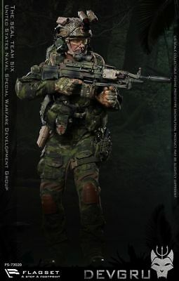 1:6 SCALE FLAGSET FS-73020 The Seal Team Six DEVGRU Male Solider Action  Figure