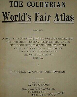 Vintage 1893 Map ~ MONTANA ~ Old Antique Original Atlas Map ~ Quick N Free 3