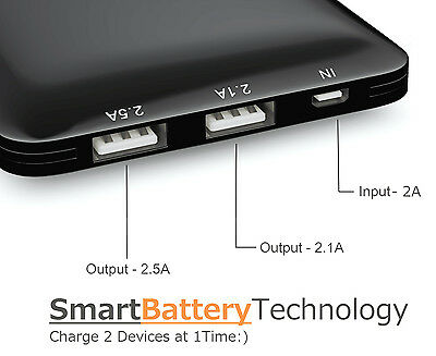 Mogix SlimFit 10400mAh External Battery Fast Dual Port Charge Thin Lightweight 3