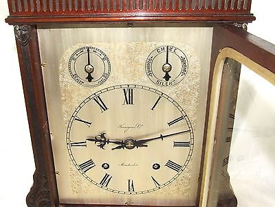 Winterhalder W & H Antique Mahogany TING TANG Bracket Mantel Clock CLEAN SERVICE 6
