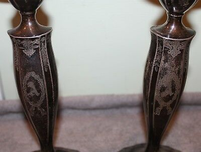 Vintage Marcus & Co. Sterling Silver Candle Sticks Brooklyn Alba Estate 3