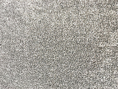 Bleach Cleanable Soft Saxony SILVER Grey Carpet Hessian Back FAST FREE DELIVERY 5