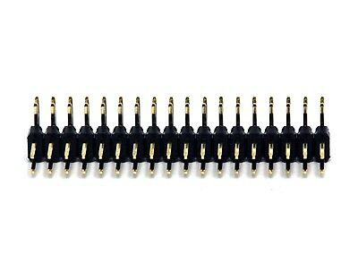 50pc Male Pin Header Right Angle 90° Dual Row 2x3P 2x3 pitch= 2.54mm RoHS H=6mm