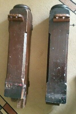 """Pair of 27"""" Antique Solid Wood Newel Baluster Posts, Pillars or Columns 2"""