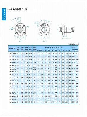 ... antibacklash ballscrew 1204-300mm-C7+BK/BF10 SFU1204Set lead screw ball screw