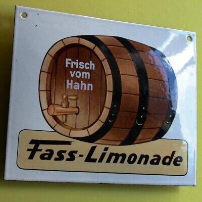 FASS LIMONADE Altes Emailschild ~ 1970 TRAUMZUSTAND Zapfhahn Brauerei Brause RAR 2