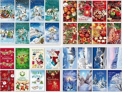 gute Auswahl an Weihnachtskarten,Glückwunschkarten mit Umschlag, Blitzversand 2