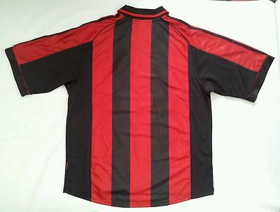online store aeb4d b4fba VINTAGE MADE IN Italy Adidas Ac Milan Authentic Soccer Jersey In Size Xl