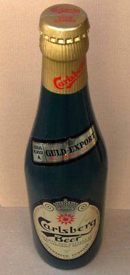 CARLSBERG Beer Alte Schauflasche Dänemark 70er RAR Bier Brauerei RIESIG = 80 cm.
