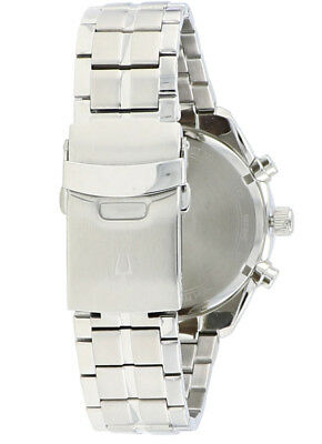 Bulova Men's 96B285 Quartz Chronograph Blue Dial Silver-Tone 44.5mm Watch 5