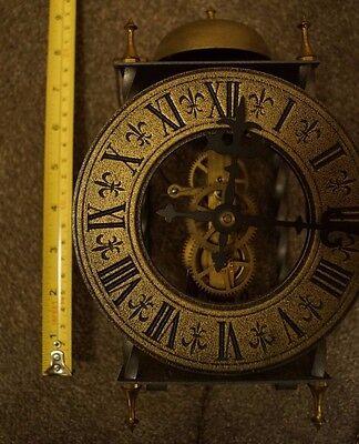 Tempus Fugit 8 Day Clock West Germany Weight-Driven Pendulum Brass Plates 6/3620 9