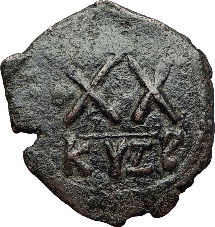 PHOCAS & LEONTIA Authentic Ancient Cyzicus Half Follis Byzantine Coin XX i71119 2