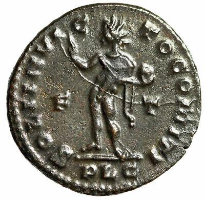 """Constantine I The Great AE Follis """"SOLI INVICTO COMITI Sol"""" Lugdunum 309-310 EF 2"""