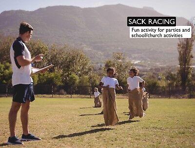 5 Burlap Sacks- Potato Sack Race Bags, Sandbags, Gunny Sack 22x36, Fish Bag 3