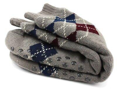 Mens Thick Thermal Sherpa Lined Fur Soft Knit Warm Non-Skid Slipper Socks 8-12