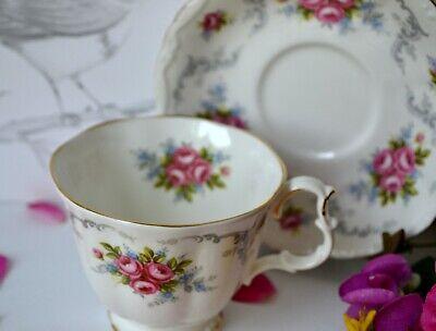 Vintage Royal Albert England TRANQUILITY Tea Cup Teacup Saucer Set, bone china 4