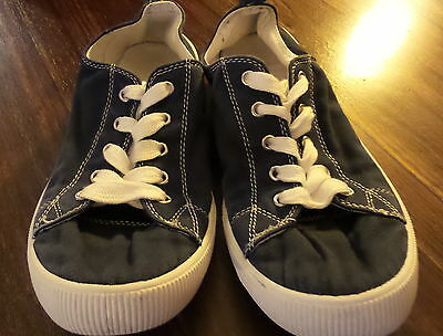 Kids Navy Blue Casual Holiday Canvas Shoes Size 5 3