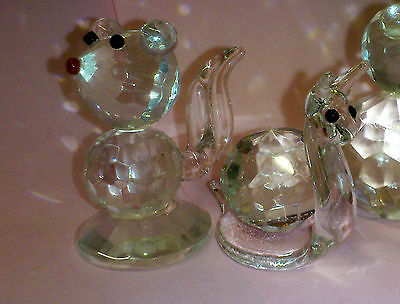 Set of 5 Crystal Glass Animals 8