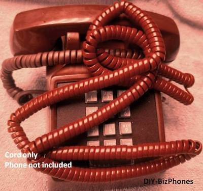 Brown 25 Ft LONG Handset Cord Phone Curly Coil Receiver Telephone Vintage  Rare