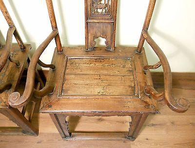 Antique Chinese High Back Arm Chairs (5511) (Pair), Circa 1800-1849 8